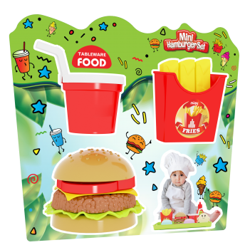 Tableware Food Mini Hamburger Seti (Asorti 2 Model)